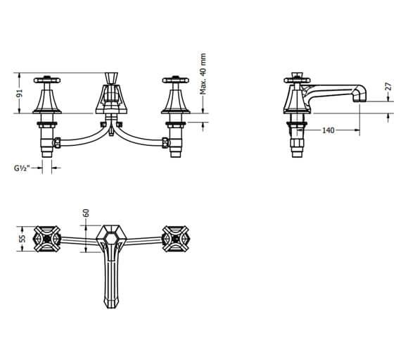 Technical drawing QS-V80111 / WF130DPC+