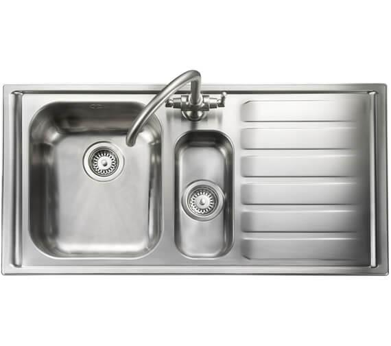 Alternate image of Rangemaster Manhattan 1.5 Bowl Stainless Steel Kitchen Sink