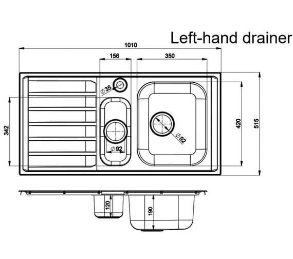 Technical drawing QS-V12141 / MN10102L/