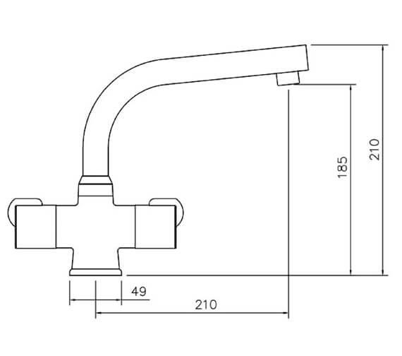 Technical drawing QS-V18827 / TAD3CM/
