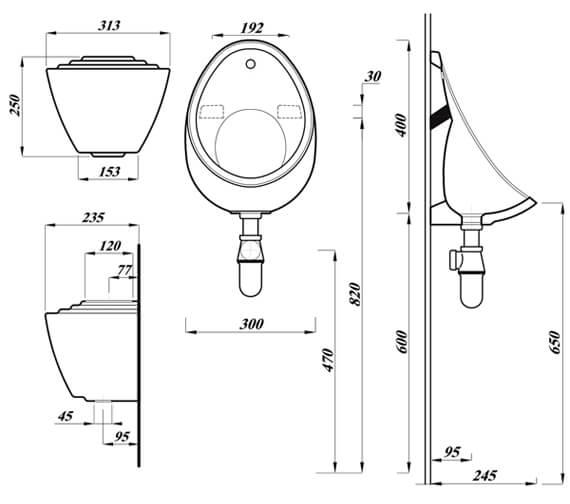 Technical drawing QS-V104529 / UR40BOX1TOGO