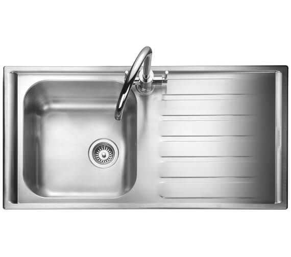 Alternate image of Rangemaster Manhattan 1010 x 515mm Stainless Steel 1.0B Inset Kitchen Sink