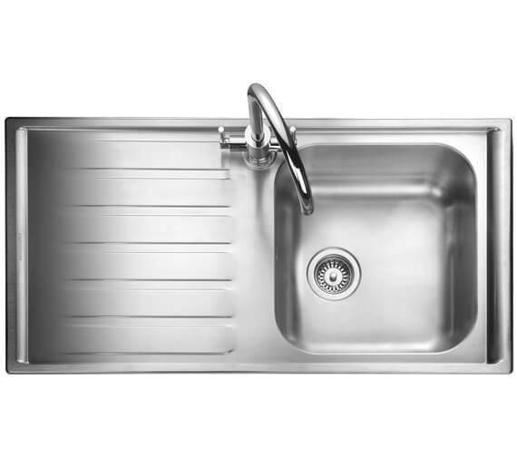 Rangemaster Manhattan 1010 x 515mm Stainless Steel 1.0B Inset Kitchen Sink