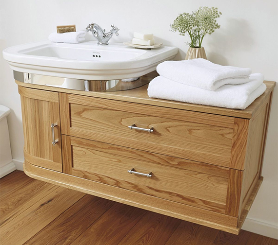 Imperial Carlyon Thurlestone 1160mm Wall Hung Offset Vanity Unit - Left Hand