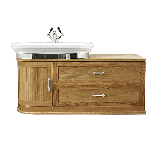 Additional image of Imperial Carlyon Thurlestone 1160mm Wall Hung Offset Vanity Unit - Left Hand
