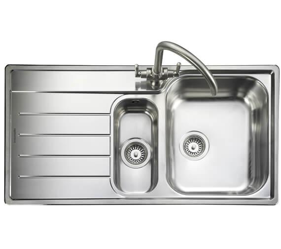 Rangemaster Oakland 985 x 508mm Stainless Steel 1.5B Inset Kitchen Sink