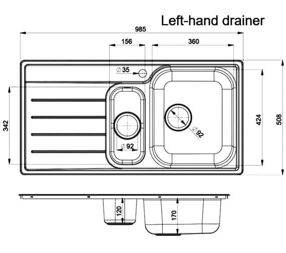 Technical drawing QS-V11035 / OL9852L/