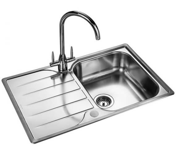 Alternate image of Rangemaster Michigan Compact Stainless Steel 1.0B Inset Sink