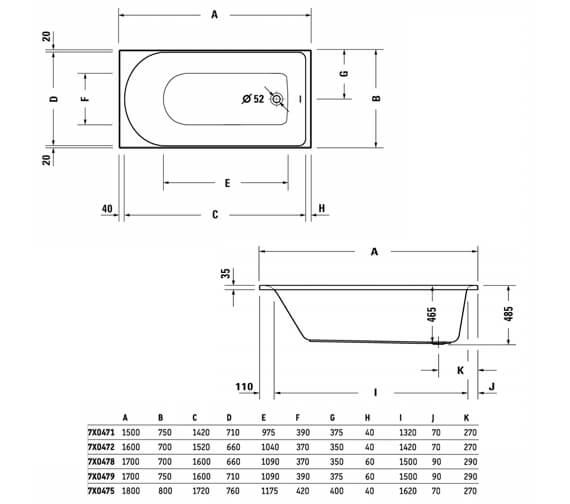 Technical drawing QS-V104572 / 700471000000000