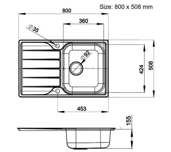 Technical drawing QS-V89119 / MG8001/