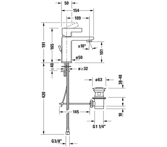 Technical drawing QS-V104548 / DE1010002010
