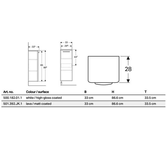 Technical drawing QS-V10701 / 500.181.01.1