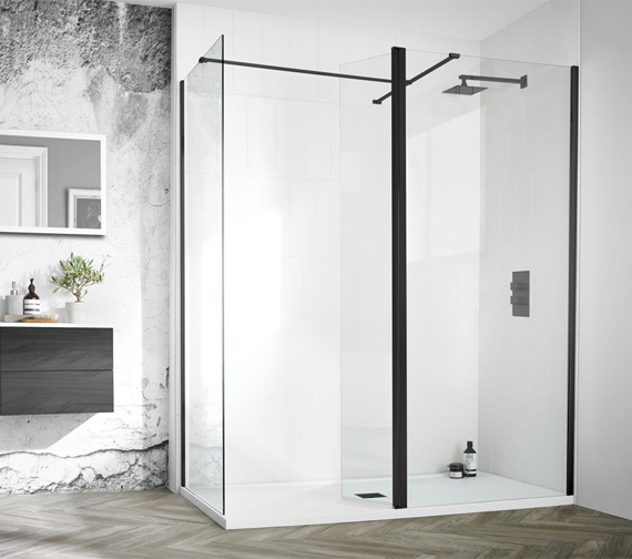 Aquadart Wetroom 8 Shower Glass Wetroom Panel