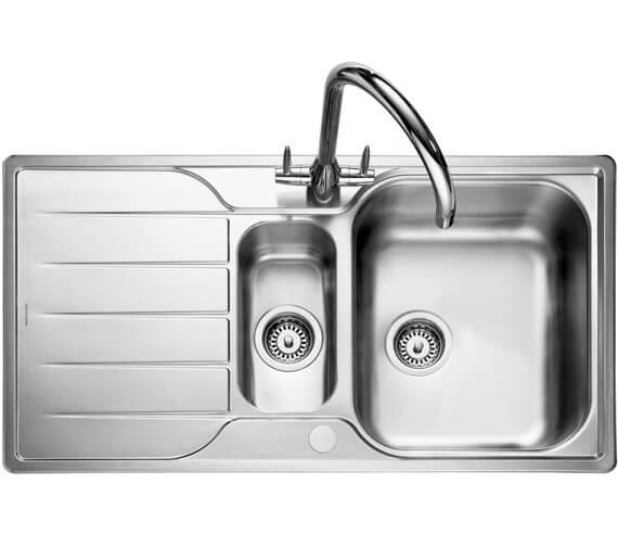 Rangemaster Michigan 950 x 508mm Stainless Steel 1.5B Inset Kitchen Sink