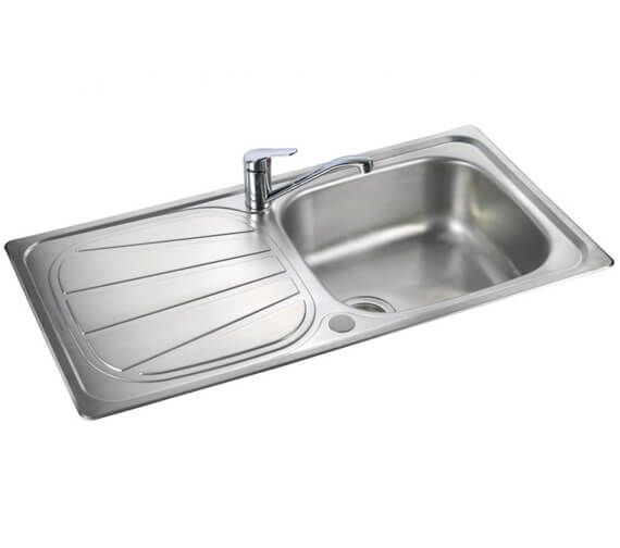 Alternate image of Rangemaster Baltimore Compact Stainless Steel 1.0B Inset Sink