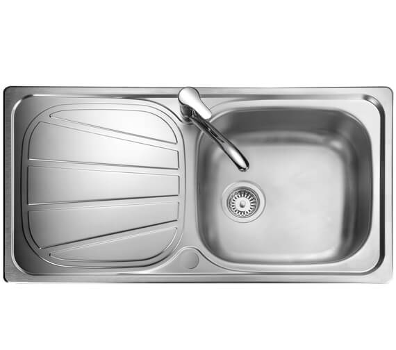 Additional image of Rangemaster Baltimore Compact Stainless Steel 1.0B Inset Sink
