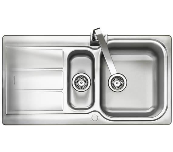 Rangemaster Glendale 950 x 508mm Stainless Steel 1.5B Inset Kitchen Sink