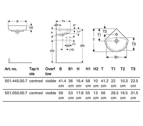 Technical drawing QS-V84309 / 501.445.00.7