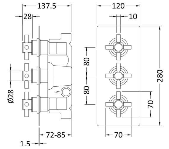 Technical drawing QS-V24637 / KRI3211