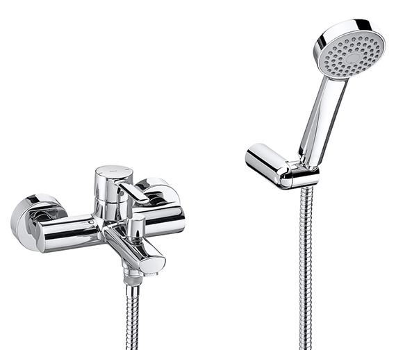 Roca Targa Wall Mounted Bath Shower Mixer Tap With Kit