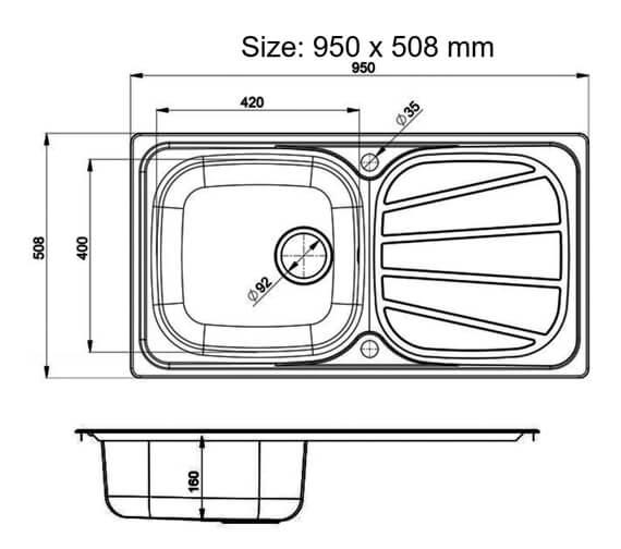 Technical drawing QS-V11038 / BL8001/