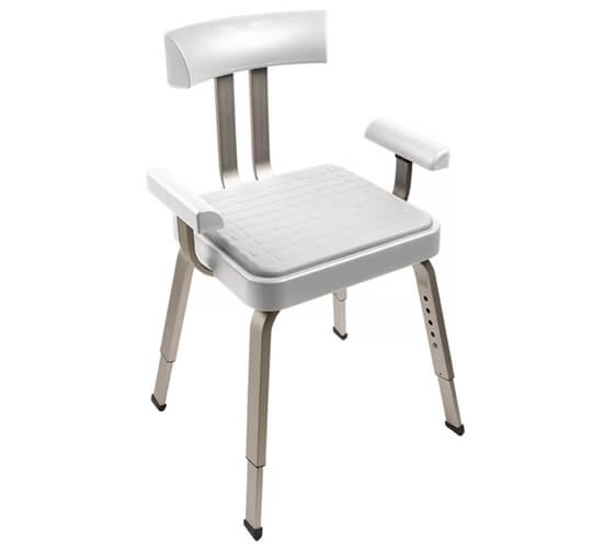 Croydex Serenity Shower Chair With White Cushion Seat