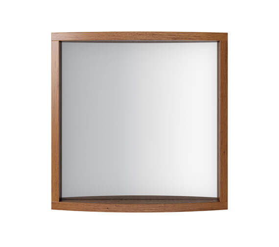 Additional image of Imperial Verona Small Cloakroom Mirror 500 x 495mm - Rosedale White