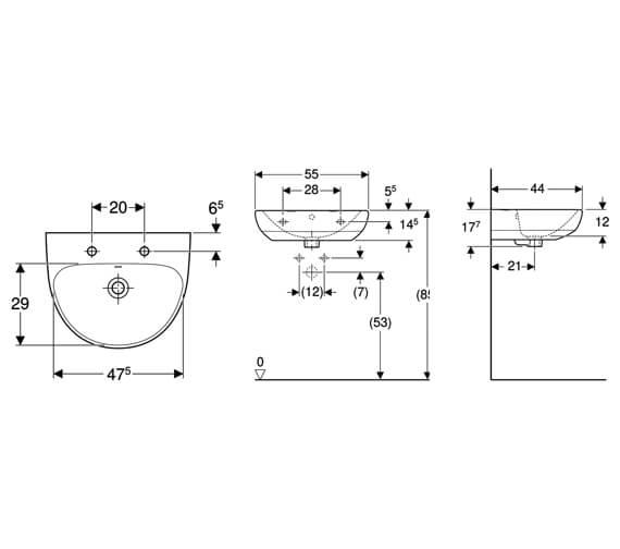Technical drawing QS-V10707 / 501.060.00.6
