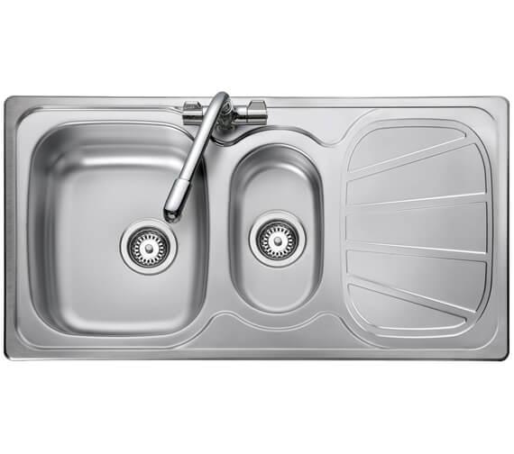 Rangemaster Baltimore 950 x 508mm Stainless Steel 1.5B Inset Kitchen Sink