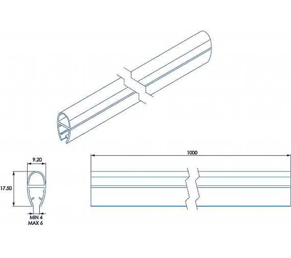 Additional image of Croydex Rigid Bath Screen Seal Kit