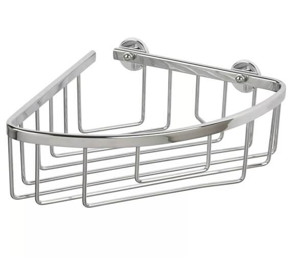 Croydex Slimline Aluminium Corner Basket