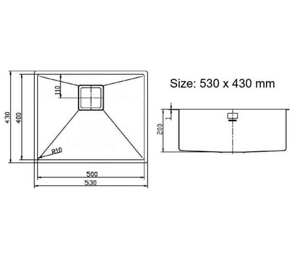 Technical drawing QS-V18869 / KUB18/