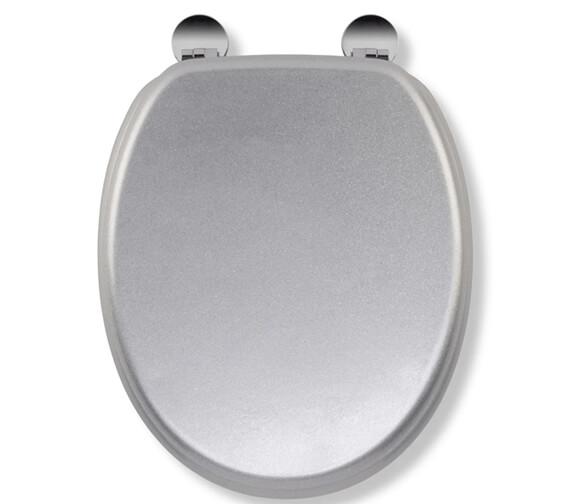 Croydex Flexi-Fix Silver Quartz Standard Toilet Seat