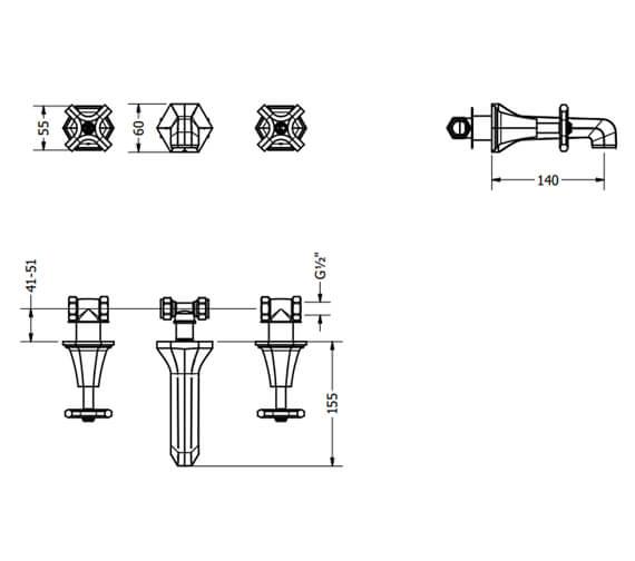 Technical drawing QS-V80114 / WF131WNC+