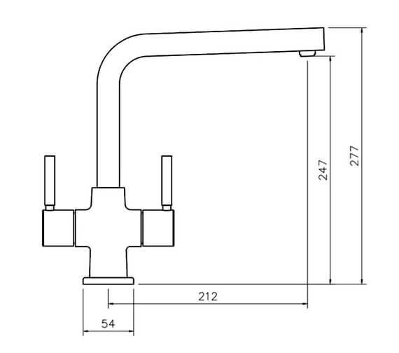 Technical drawing QS-V89158 / TAD5CM/
