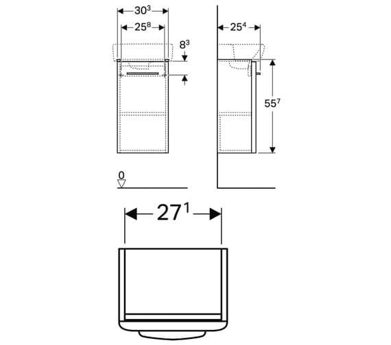 Technical drawing QS-V10685 / 500.158.01.1