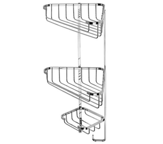 Croydex Stainless Steel Three Tier Corner Basket