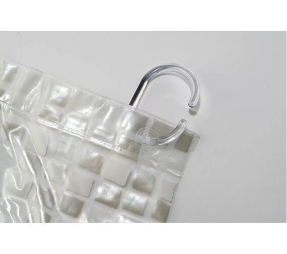Alternate image of Croydex Mosaic PVC Shower Bath Curtain