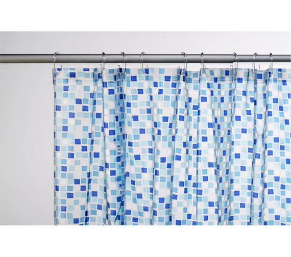 Additional image of Croydex Mosaic PVC Shower Bath Curtain