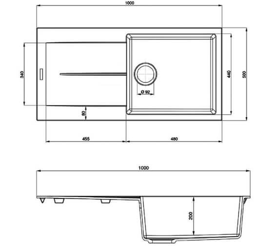 Technical drawing QS-V89130 / SCO1051AS/