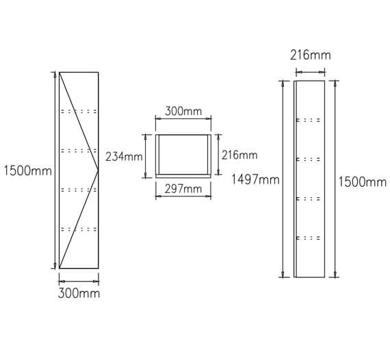 Technical drawing QS-V104547 / CAWMUTALLDW