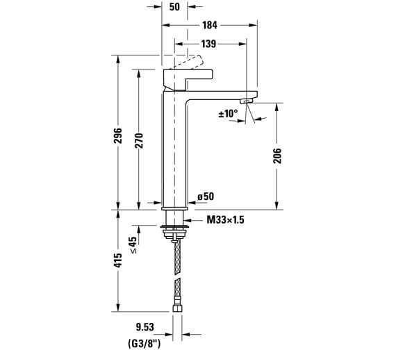 Technical drawing QS-V104549 / DE1030002010