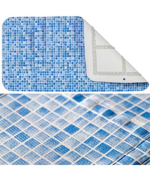 Croydex 700mm Blue Bath Mosaic Mat