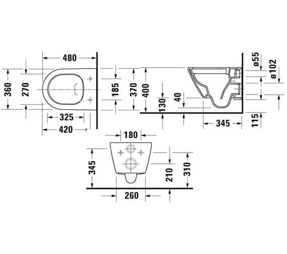 Technical drawing QS-V104557 / 2587090000