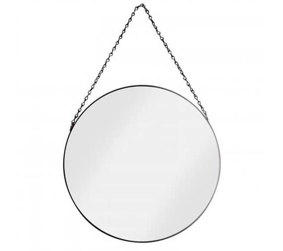 Croydex Metal Matt Black Framed Mirror With Chain