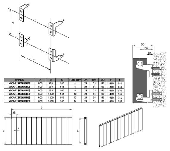 Technical drawing QS-V95334 / A-VCR060040DW