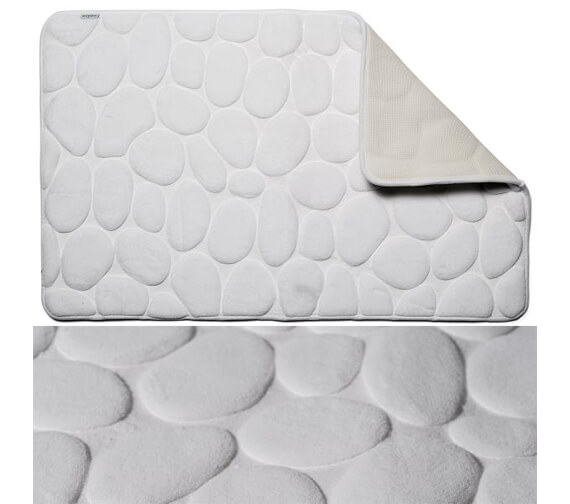 Additional image of Croydex 800 x 500mm Pebble Memory Foam Bath Mat