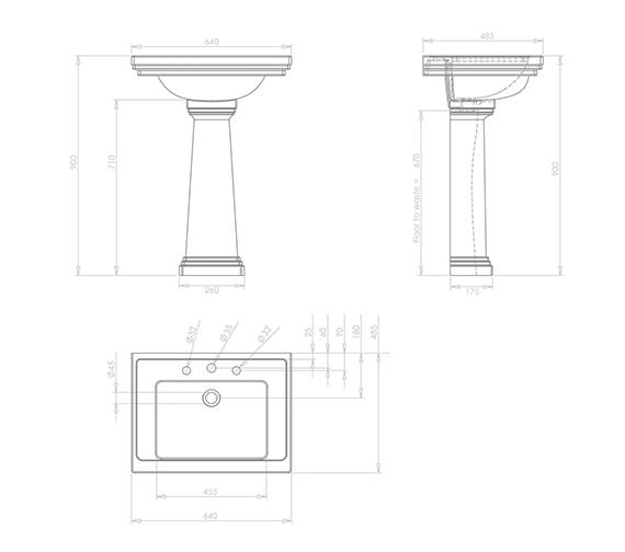 Technical drawing QS-V73490 / AD1SB11030