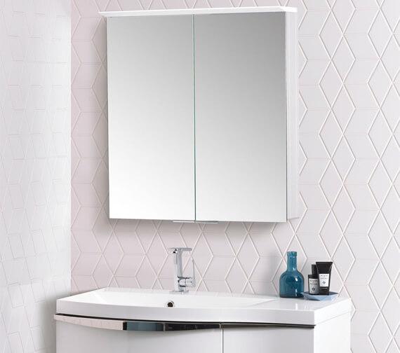 Roper Rhodes Radiance 650mm x 714mm Illuminated Double Door LED Mirror Cabinet