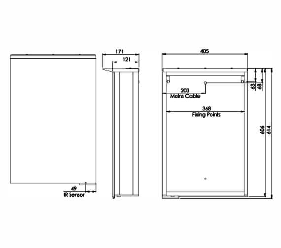 Technical drawing QS-V98659 / RAC040
